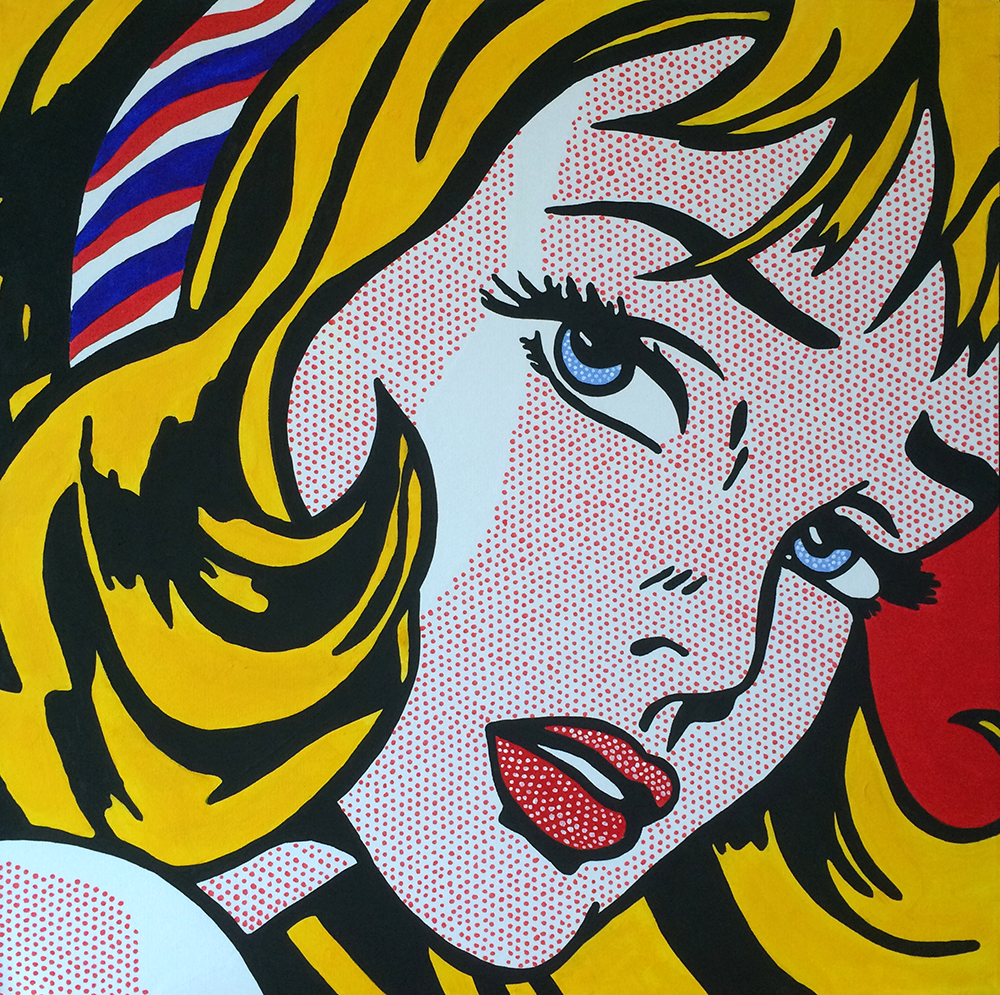 How to paint roy lichtenstein 39 s girl with hair ribbon - Roy lichtenstein obras ...