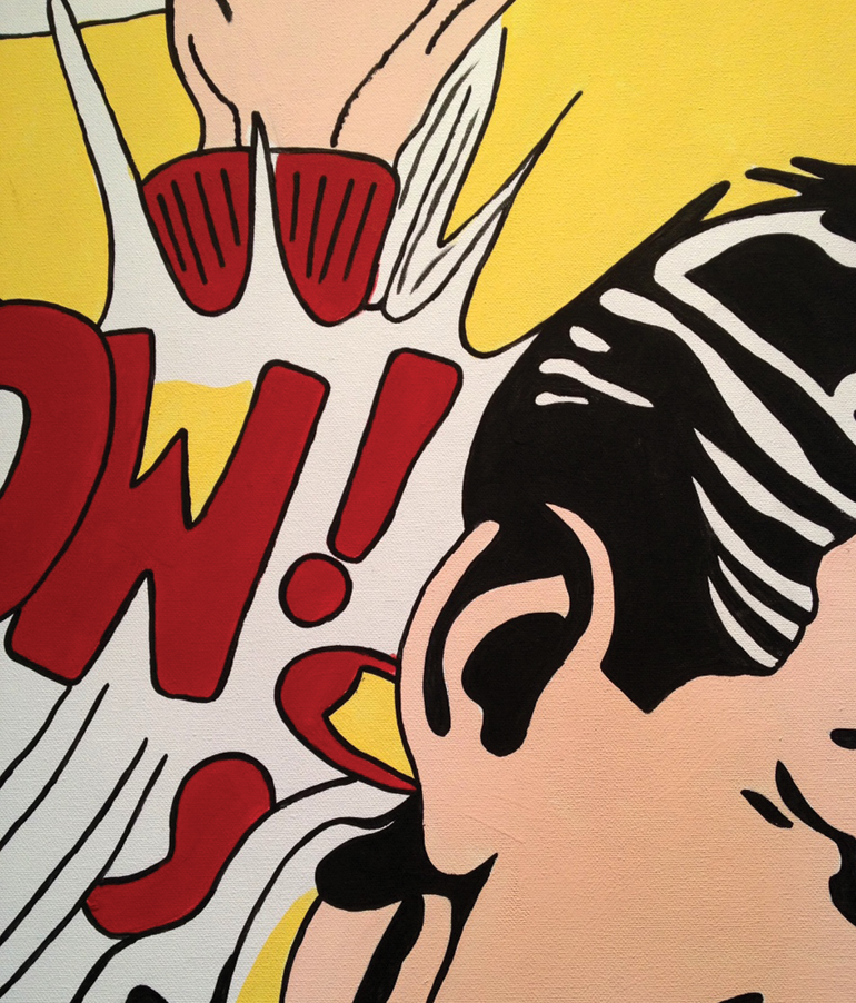 Roy Lichtenstein Drowning Girl Brushstroke In the Car Sweet Dreams Baby Crak! M-Maybe