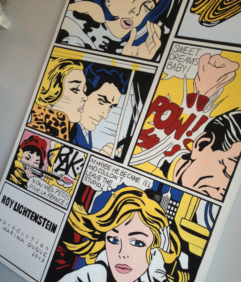 Roy Lichtenstein Drowning Girl Brushstroke In the Car Sweet Dreams Baby Crak! M-Maybe