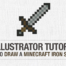 Adobe Illustrator Tutorial: How to Draw a Minecraft Iron Sword
