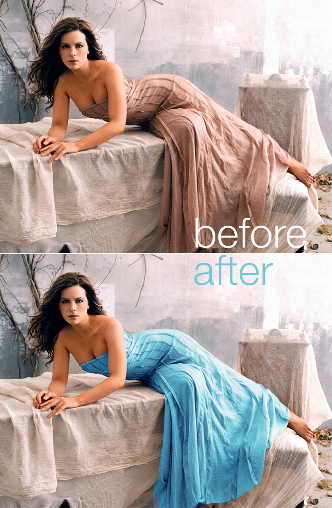 How to Colour a Dress in Photoshop