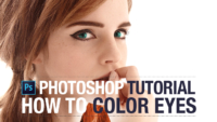 Adobe Photoshop Tutorial: How to Color Eyes