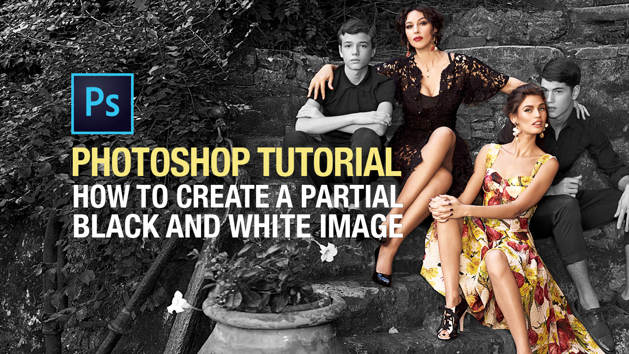 Photoshop tutorial how to create a partial black and white image photoshop tutorial how to create a partial black and white image this design girl baditri Choice Image